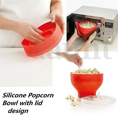 Microwave Silicone Popcorn Popper Maker Collapsible Bowl For DIY Kitchen Tool