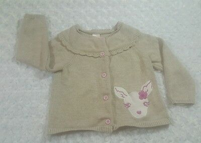 Gymboree Toddler Girl 2T Cardigan Sweater Beige/ Pink Lovely 24 Months C1