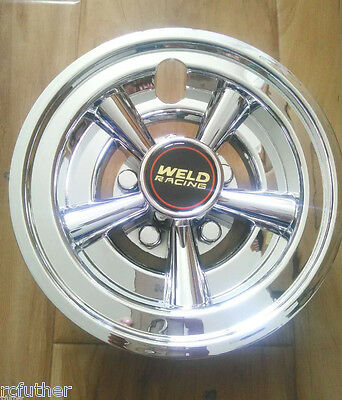 8inch Golf Cart Wheel Covers 8 Weld Chrome 5 Spoke Hub Caps Set Of