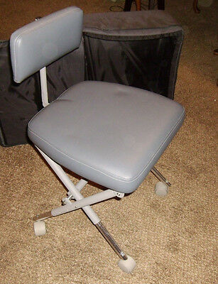 Aseptico Stool Chair Portable w/ Storage & Carry Bag Tote Folding Mobile Dentist