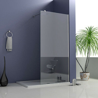 Aica Wet Room Shower Screen Enclosure Panel Walk In 6mm Tempered Glass Cubicle