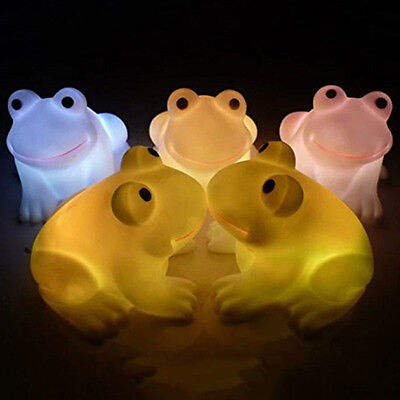 LED Night Light  Frog Shape Colorful Changing Lamp Room Home Bar Decor