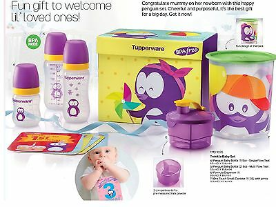 New Tupperware twinkle baby bottle and formula dispenser set