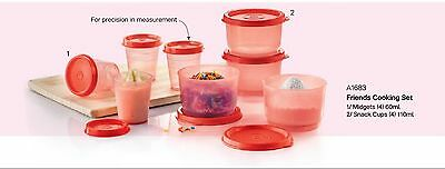 New Tupperware midgets and snack cups set (8)