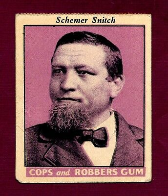 "Extremely Rare - Fleer ""Cops and Robbers Gum"" Card (R36)"