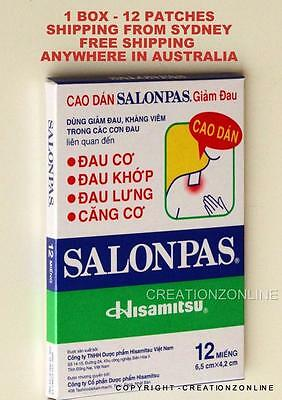 SALONPAS 12 Pain Relieving Patches Arthritis Muscle Pain Relief SYDNEY STOCK
