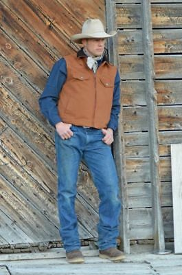 Wyoming Traders Western CCW Concealed Carry Men's Canvas Vest, Med Lg XL 2XL 3XL