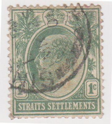 (MS-10) 1906 Straits settlements 1c green Edward VII (C)