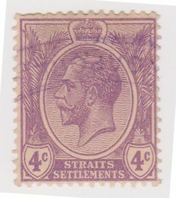 (MS-33) 1919 Straits settlements 4c purple KGV (C)