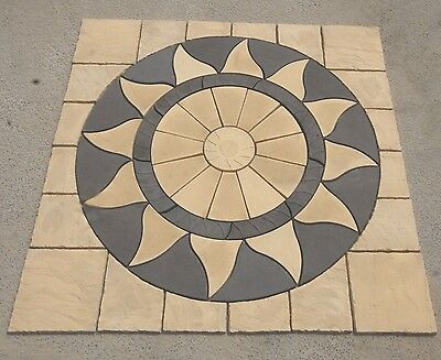 Aztec Sun Circle Sq Off Kit Patio Paving Slab  Free Delivery Note Exceptions5)