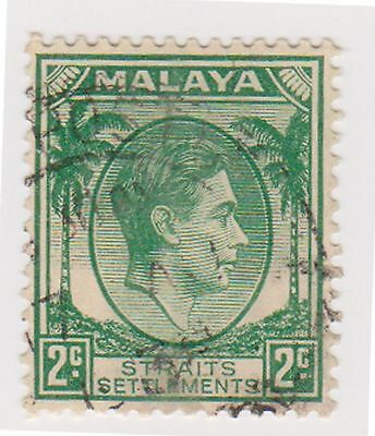 (MS-65) 1937 Malaya 2c green KGV (A)