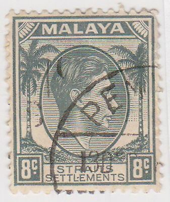 (MS-74) 1937 Malaya 8c grey KGV (A)