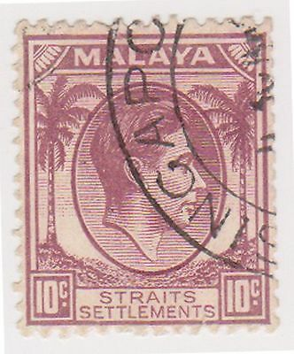 (MS-77) 1937 Malaya 10c brown KGV (A)
