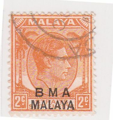 (MS-94) 1945 Malaya BMA O/P 2c orange &black KGV (D)