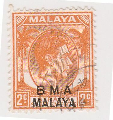 (MS-95) 1945 Malaya BMA O/P 2c orange &black KGV (E)