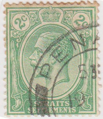 (MS-24) 1919 Straits Settlements 2c green KGV (C)