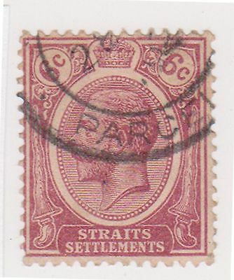(MS-42) 1912 Straits settlements 6c purple KGV (C)