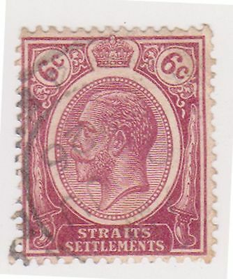 (MS-41) 1912 Straits settlements 6c purple KGV (B)