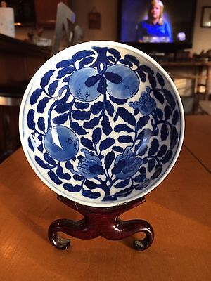 Chinese Blue And White Porcelain Dish Finely Painted