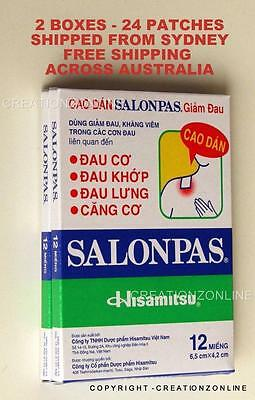 SALONPAS 24 Pain Relieving Patches Arthritis Muscle Pain Relief FAST SHIP SYDNEY