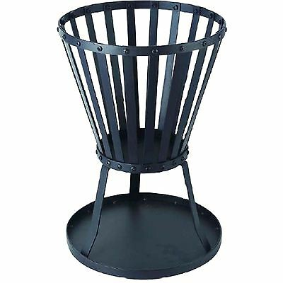 Robust Steel Frame Brazier Patio Fire Basket Outdoor Camping Garden Summer Bbq