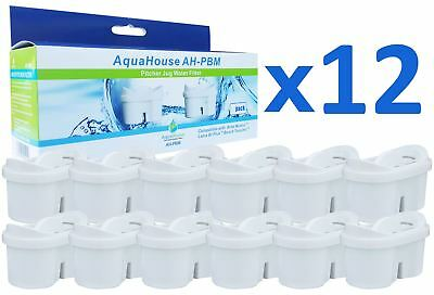 12 AquaHouse Water Filter Cartridge Compatible for Brita Maxfor Duomax Wilko jug