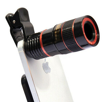 8x HD Telescope Camera Lens Clip-on Optical Zoom For Universal Mobile Phone