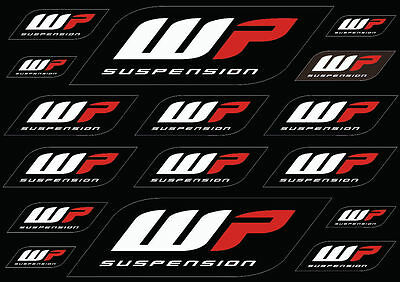 WP Suspension Bike Forks Decals Stickers Graphic Set Logo Adhesive Kit 16 Pcs