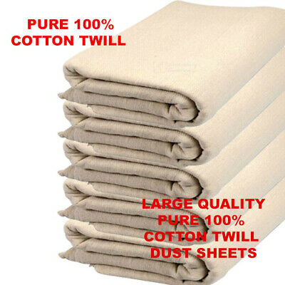 Heavy Duty 9' X 12' Cotton Twill Professional Decorating Large Dust Sheets
