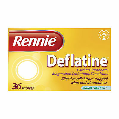 Rennie Deflatine for Trapped Wind 36 Tablets - Multi Quantity