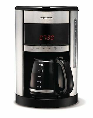 Morphy Richards Accents Digital Filter Coffee Maker Brushed Brand New!