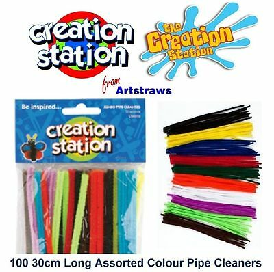 Creation Station Multi color Jumbo Pipe Cleaners  pack of 100 300mm x 6mm CT4070