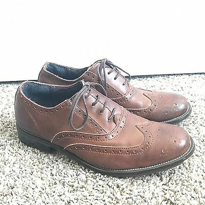 Steve Madden Garth Brown Leather Oxford Casual Dress Shoes Men's Sz 11 M