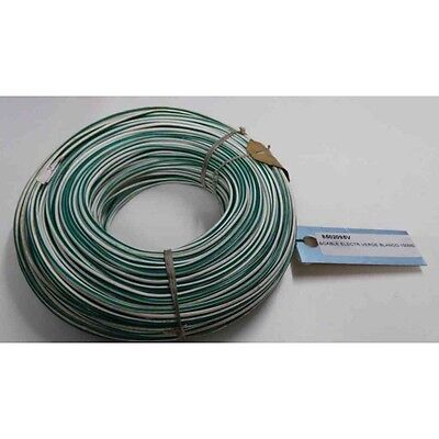 CABLE ELECTRICO VERDE / BLANCO 100mts
