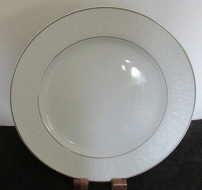 """Crown Victoria Japan Lovelace White Silver 10 1/4"""" Dinner Plate (18 Available)"""