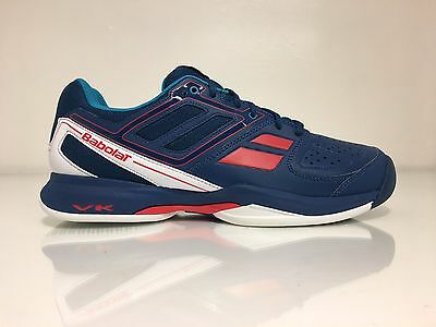 Babolat Pulsion BPM Men's Tennis All Court Shoes Blue Red