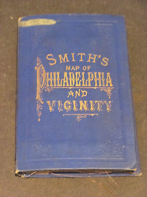 1884 New Driving Map Smith's Map Of Philadelphia and Vicinity Huge Folding Map