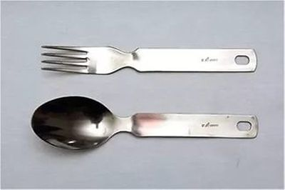 Original 100% Titanium Light Military Quality  Spoon / Fork Set