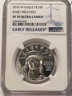 2016-W Platinum Eagle $100 NGC PR70 UCAM (Early Releases) Statue Liberty 1 oz