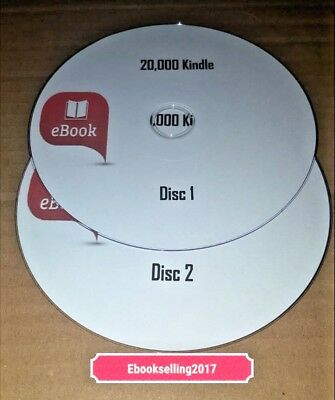 20,000 Kindle format Ebooks of Mixed Authors & genres classic ebooks on 2 discs