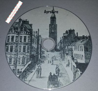 History ebooks, of Ayrshire genealogy, 100 pdf files on disc in for PC & Kindle