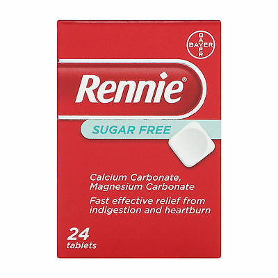 Rennie Sugar Free Indigestion & Heartburn 24 Tablets - Multi Quantity