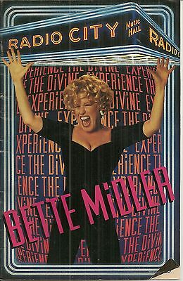 Playbill Bette Midler The Divine Experience Radio City Music Hall Sep 1983 k