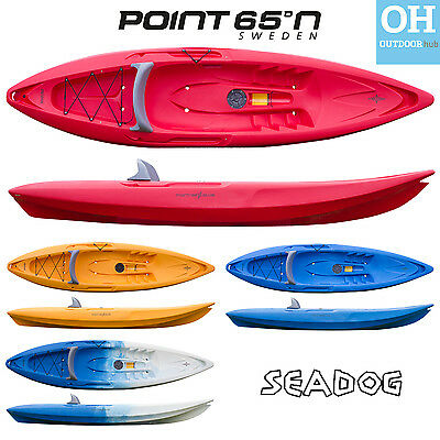 Point 65 Sit on Top Kayak Seadog Single Sea River Canoe Backrest Ocean 1 Man