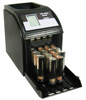 Coin Counter Machine Electric Digital Sorter Business and Home, Auto Wrap 312 pm
