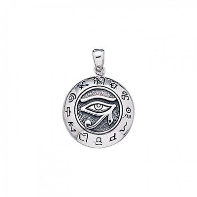 Eye of Horus Sterling Silver Pendant by Peter Stone unique design fine jewelry