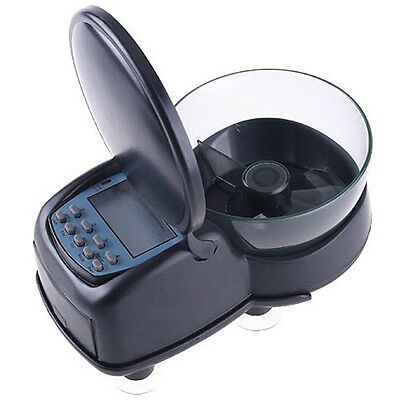 Automatic Aquarium Tank Fish food Timer Feeder Black I2J6