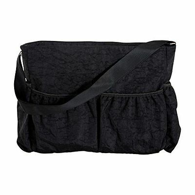 Trend Lab Black Crinkle Tote Diaper Bag Black, New