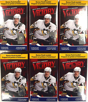 2011-12 11-12 Upper Deck Victory Factory Sealed Hockey Blaster Box - LOT OF 6