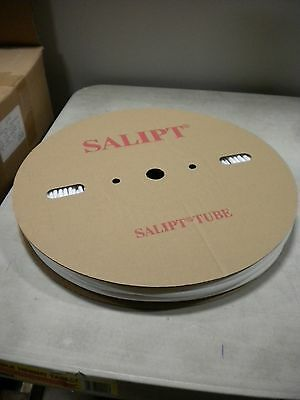 "Salipt Heat Shrink Tubing, 2:1 White 6mm (1/4"") wide x 100m (328ft) long roll"
